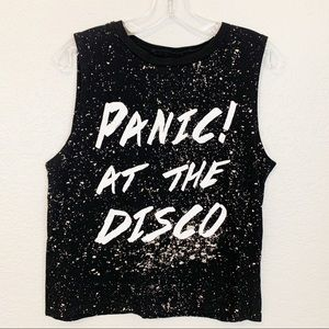 ManHead Panic! At The Disco Band Muscle Crop Tank